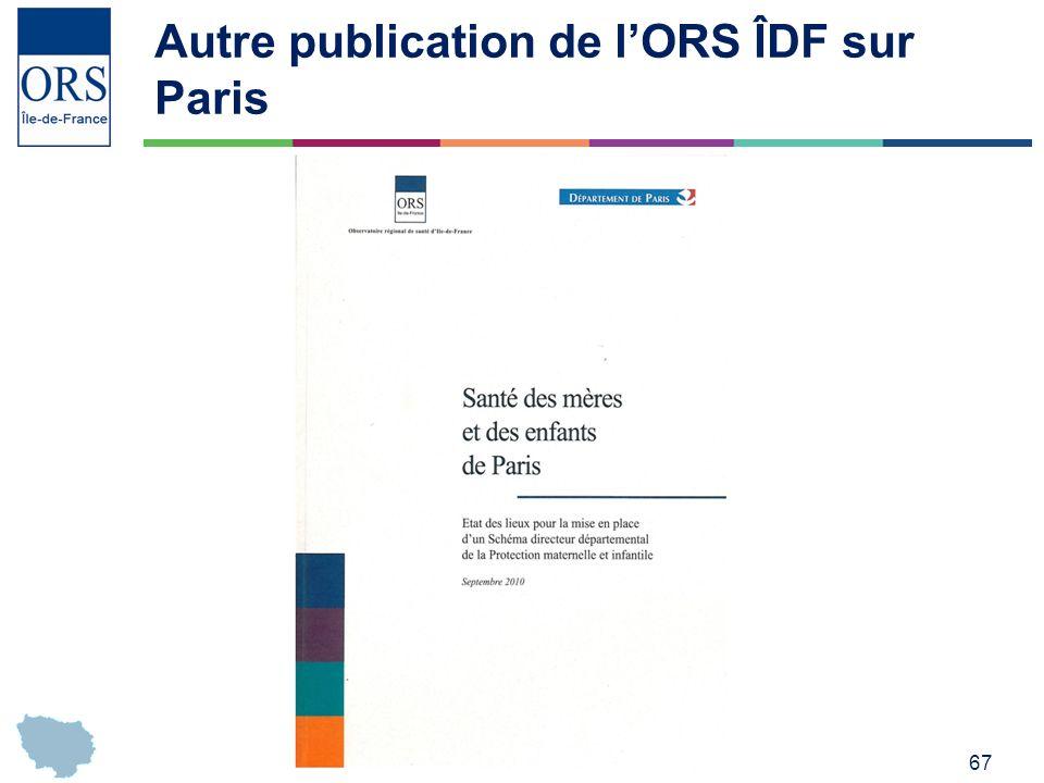 Autre publication de l'ORS ÎDF sur Paris