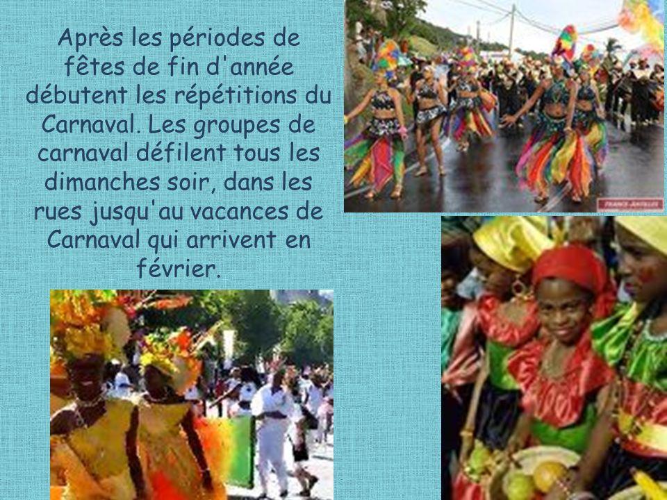 Après les périodes de fêtes de fin d année débutent les répétitions du Carnaval.