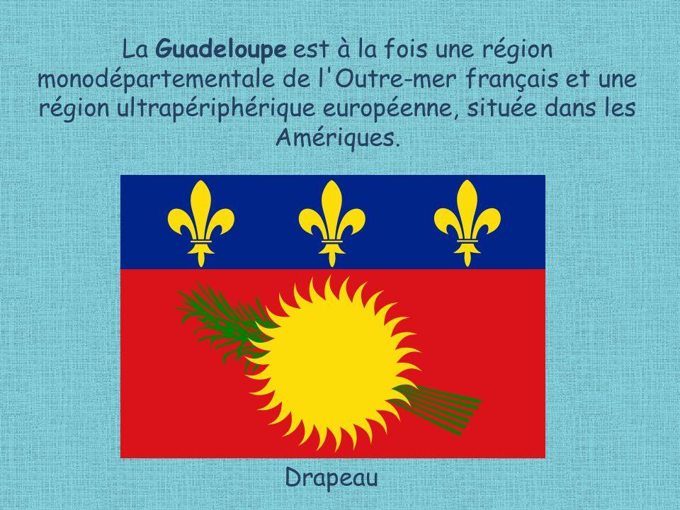 La Guadeloupe est à la fois une région monodépartementale de l Outre-mer français et une région ultrapériphérique européenne, située dans les Amériques.