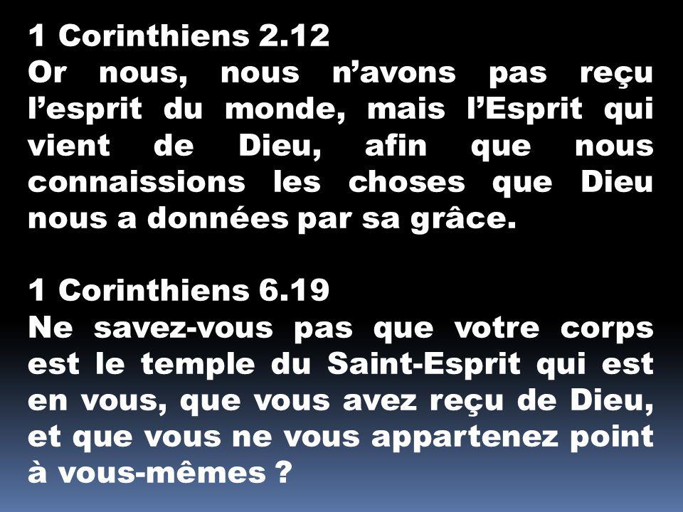 1 Corinthiens 2.12