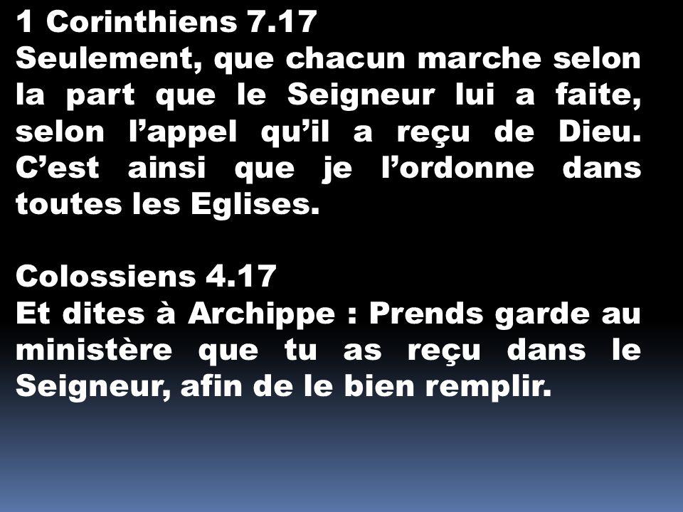 1 Corinthiens 7.17