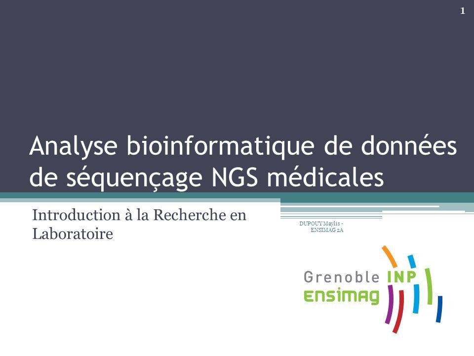 Analyse bioinformatique de données de séquençage NGS médicales