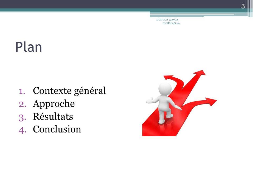 Plan Contexte général Approche Résultats Conclusion