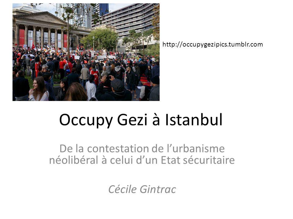 http://occupygezipics.tumblr.com Occupy Gezi à Istanbul. De la contestation de l'urbanisme néolibéral à celui d'un Etat sécuritaire.