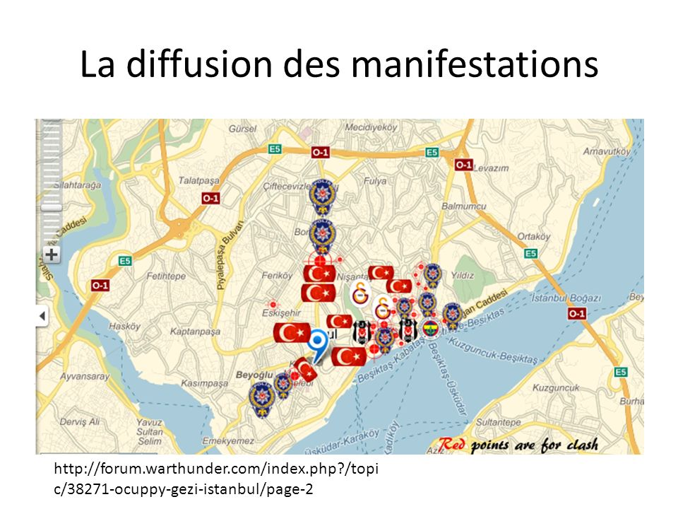 La diffusion des manifestations