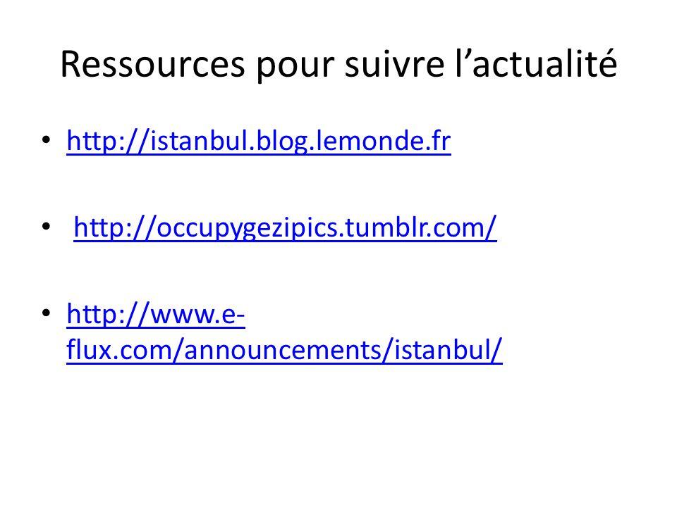 Ressources pour suivre l'actualité
