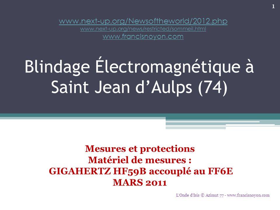 Blindage Électromagnétique à Saint Jean d'Aulps (74)