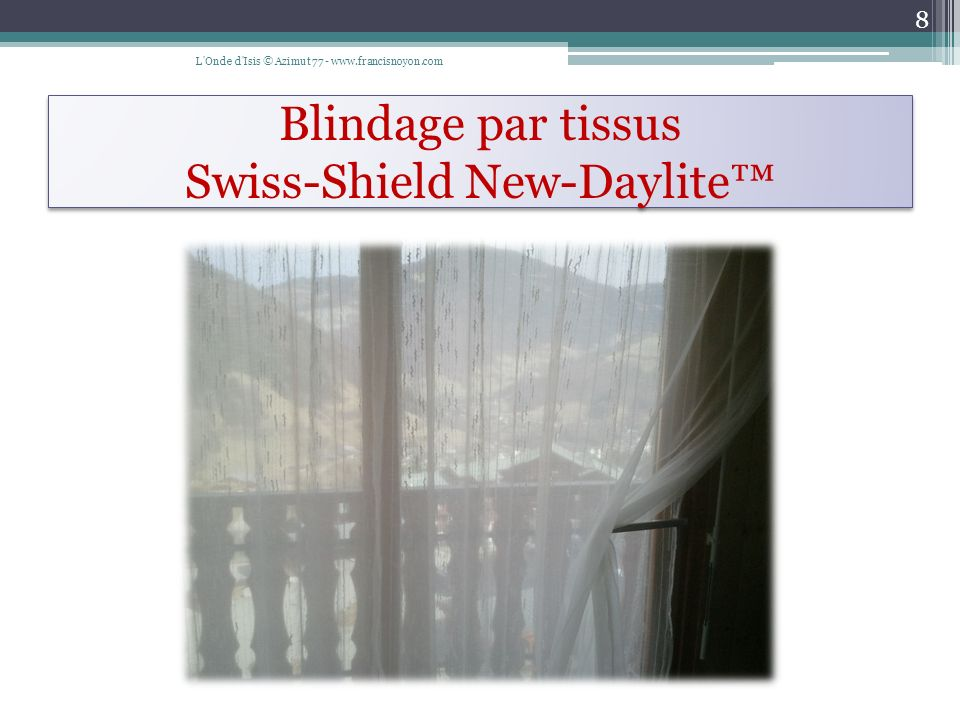 Blindage par tissus Swiss-Shield New-Daylite™