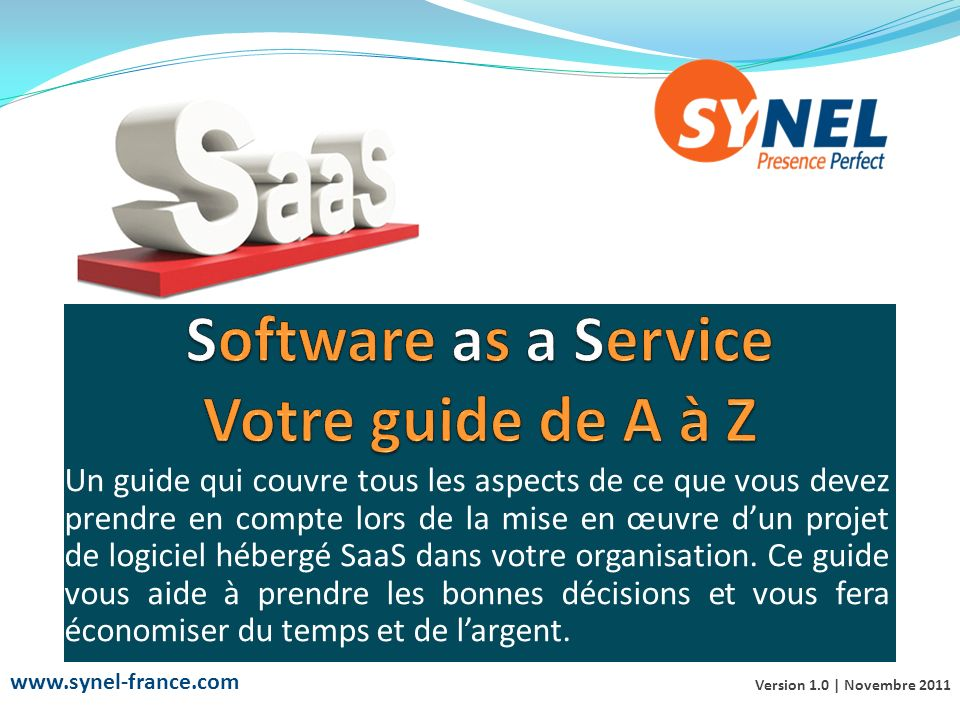 Software as a Service Votre guide de A à Z