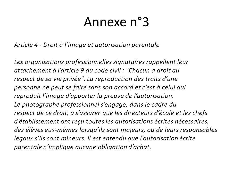 Annexe n°3