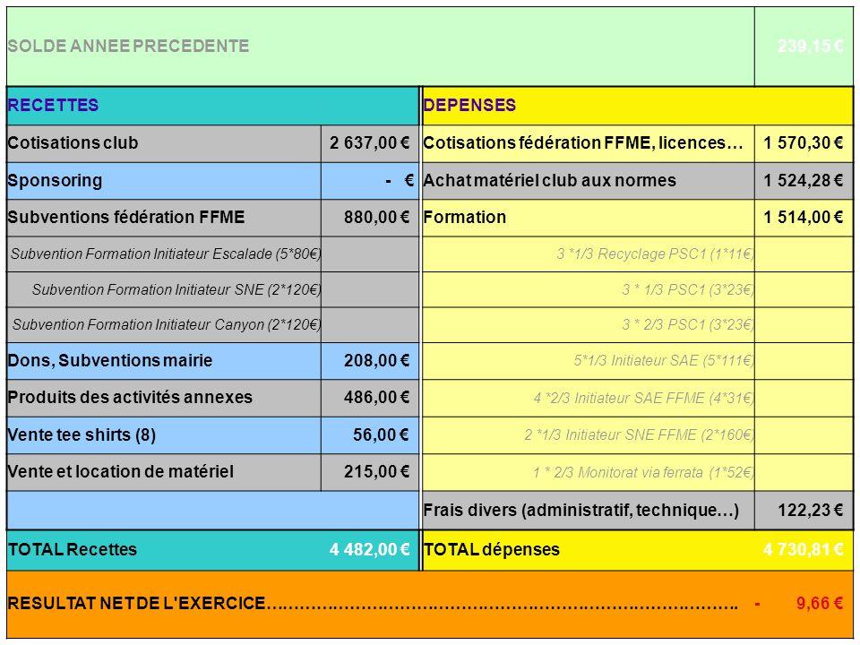 SOLDE ANNEE PRECEDENTE 239,15 €