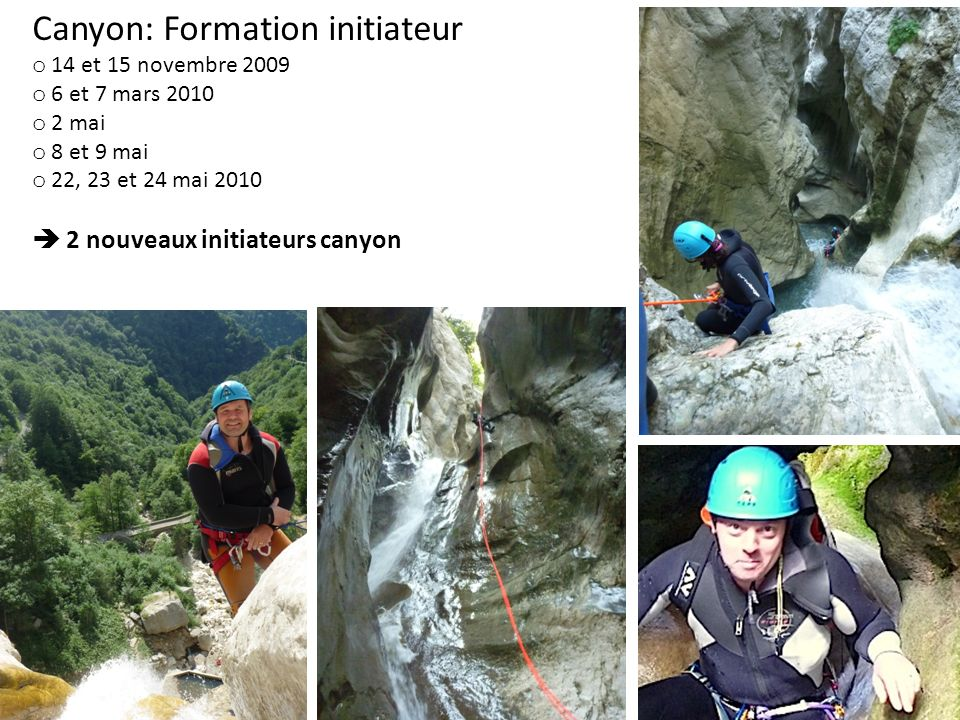 Canyon: Formation initiateur