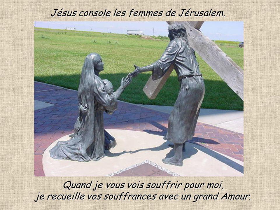 Jésus console les femmes de Jérusalem.
