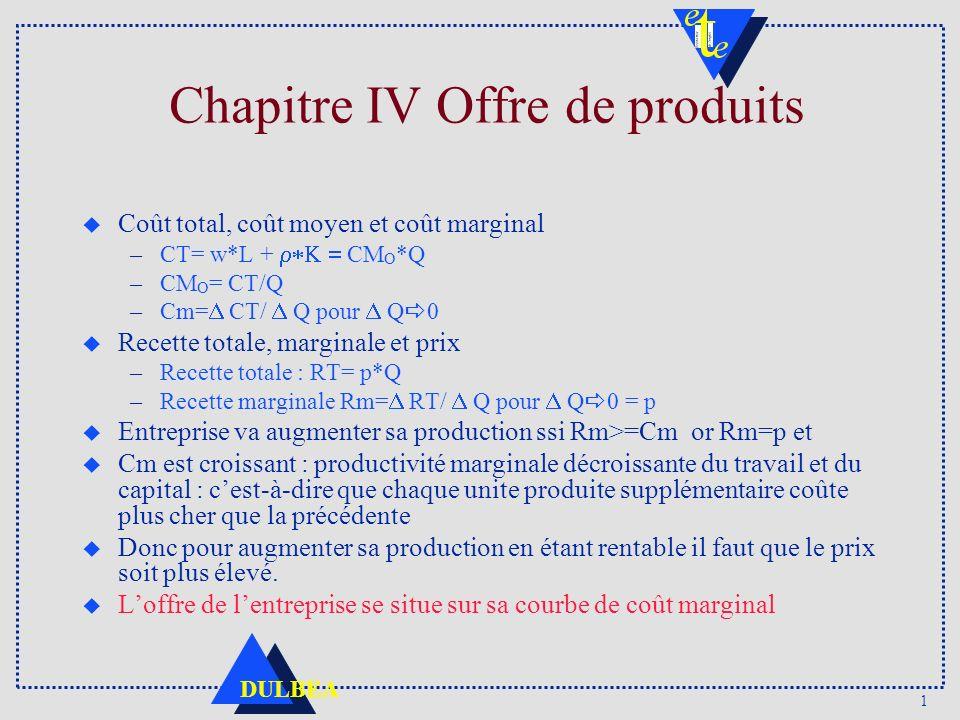Chapitre IV Offre de produits