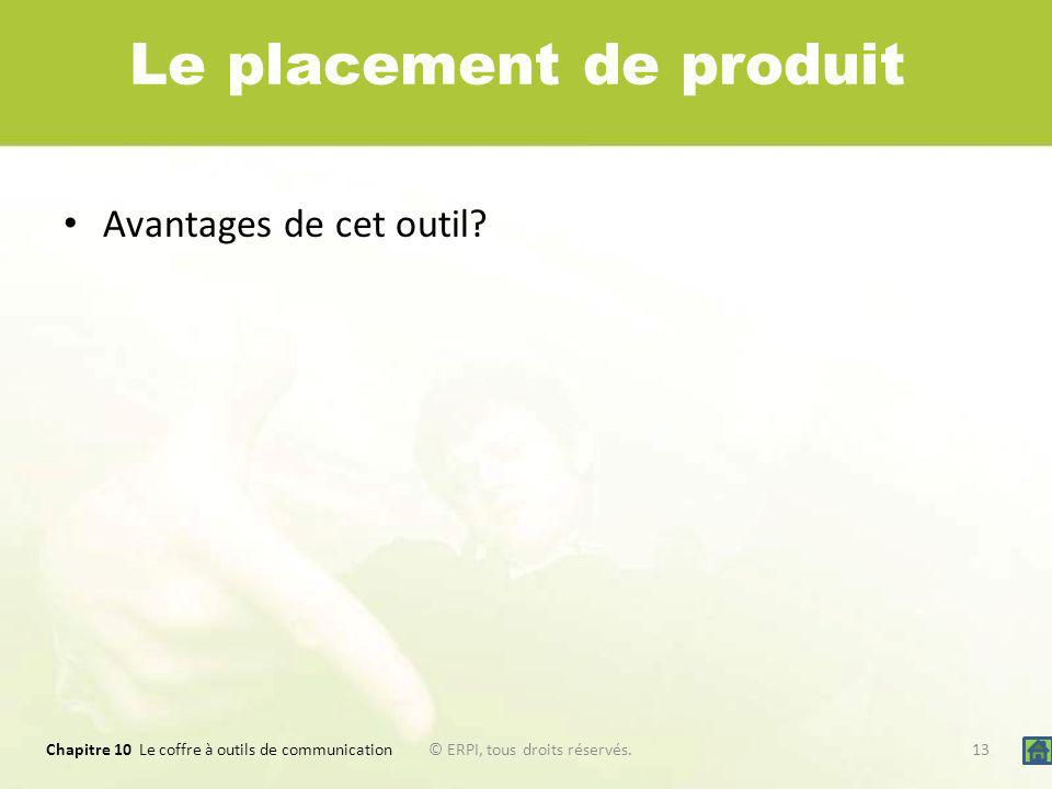 Le placement de produit