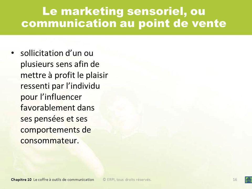 Le marketing sensoriel, ou communication au point de vente