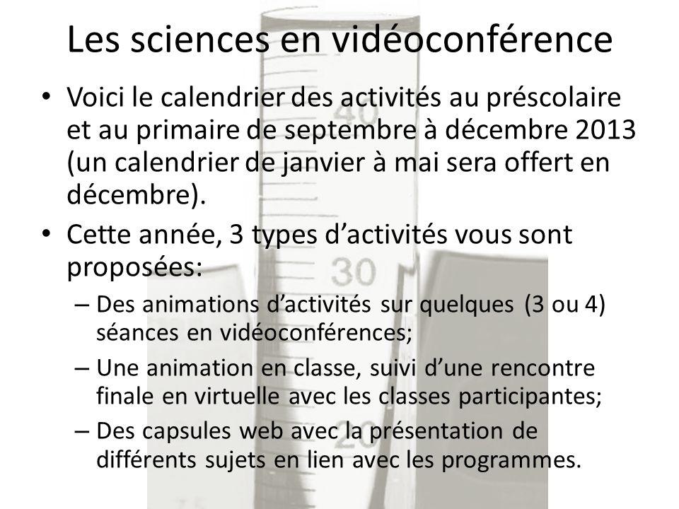 Les sciences en vidéoconférence