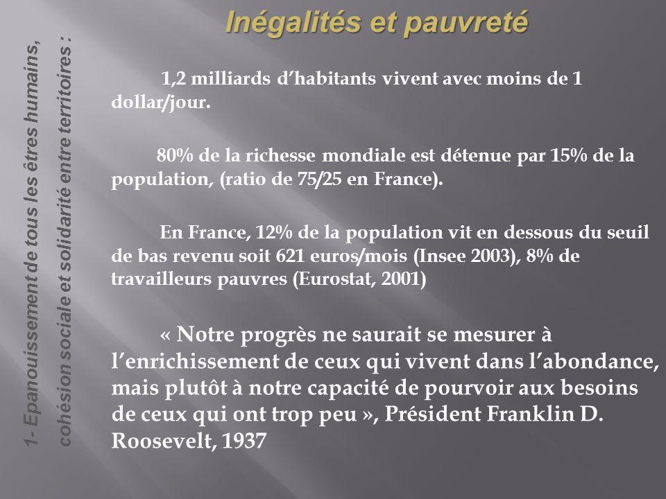 Inégalités et pauvreté