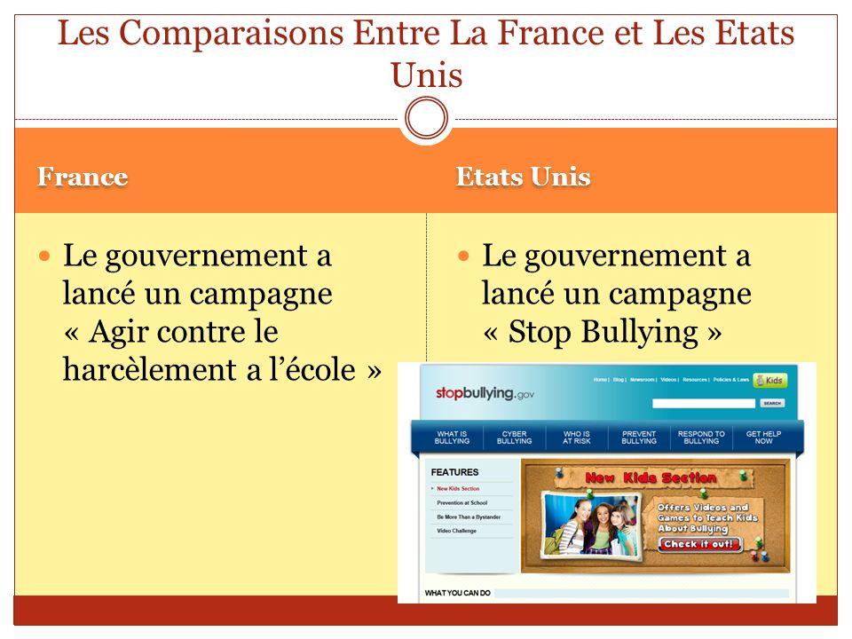 Les Comparaisons Entre La France et Les Etats Unis
