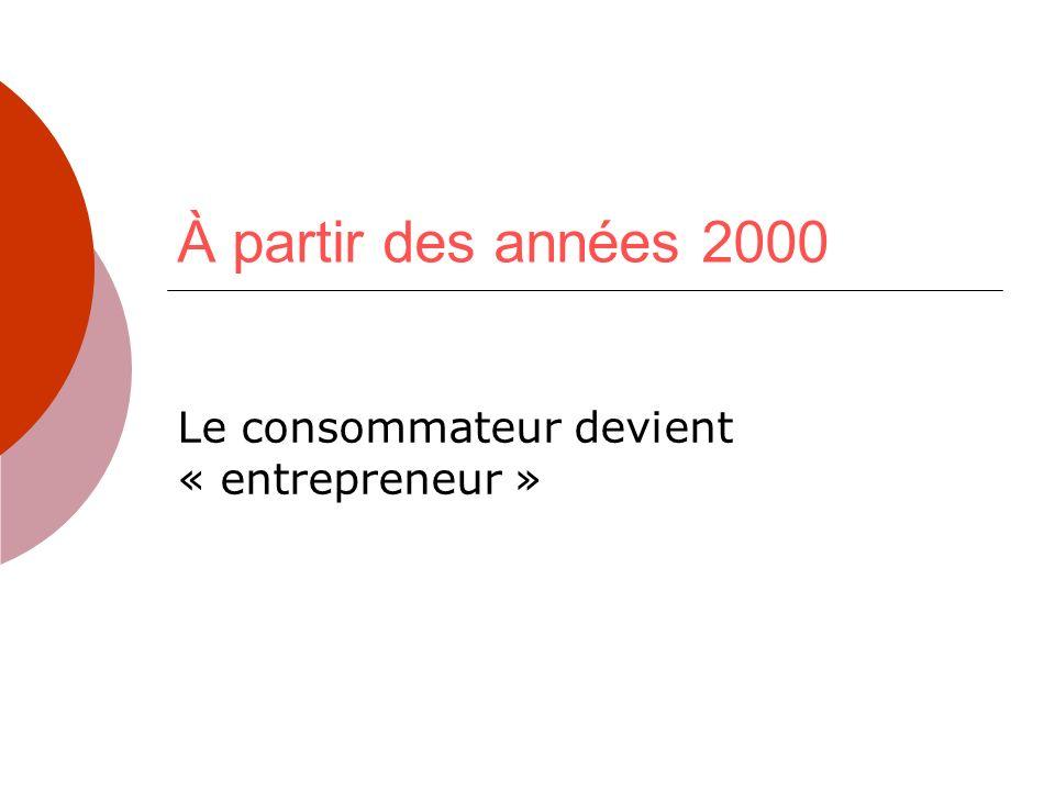 Le consommateur devient « entrepreneur »