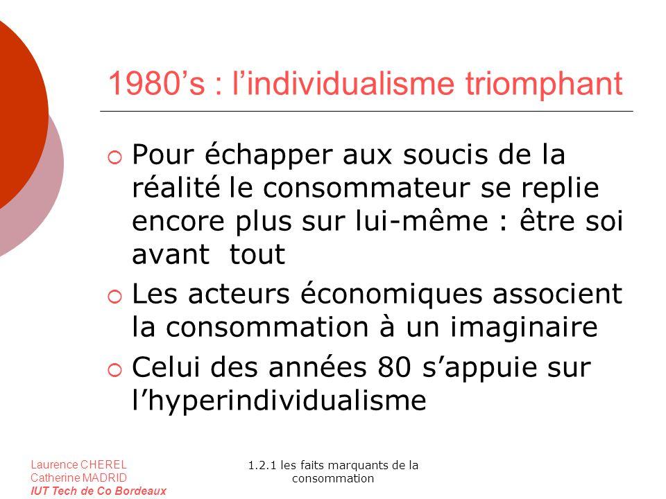 1980's : l'individualisme triomphant