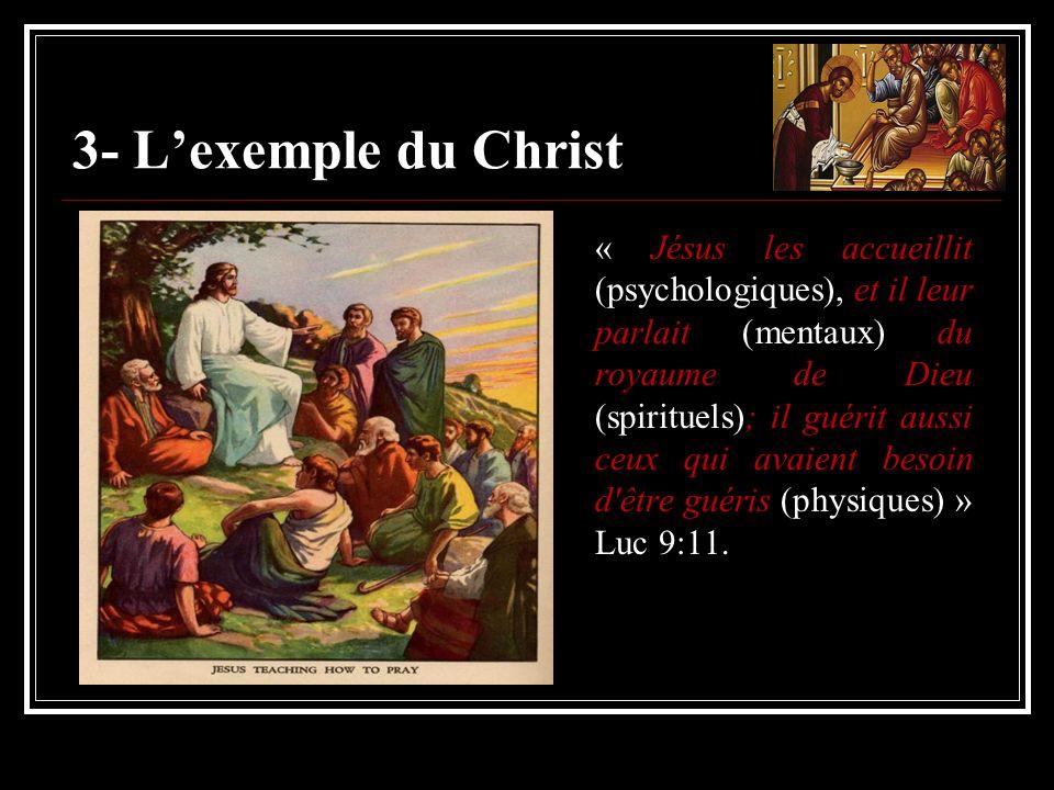 3- L'exemple du Christ