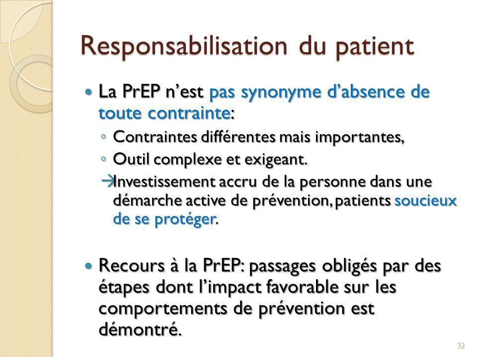 Responsabilisation du patient