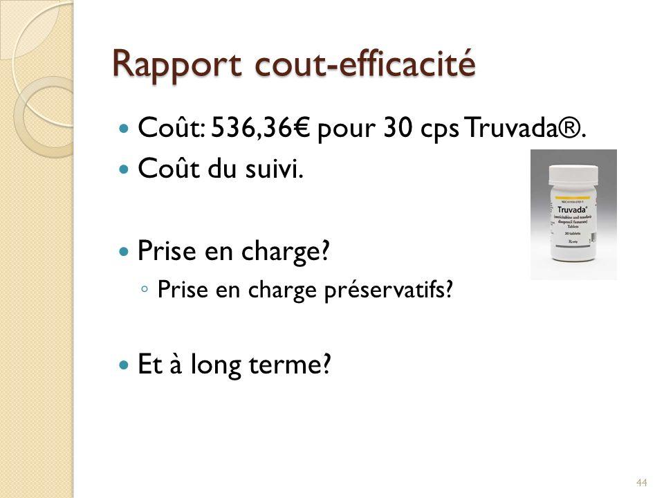 Rapport cout-efficacité