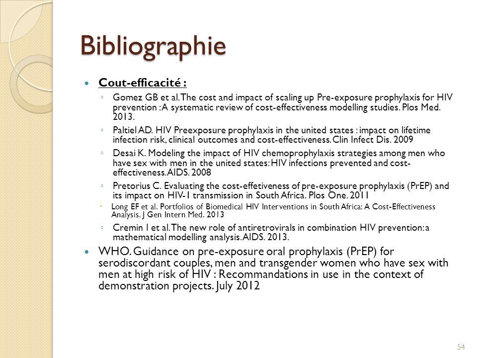 Bibliographie Cout-efficacité :