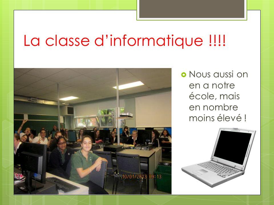 La classe d'informatique !!!!
