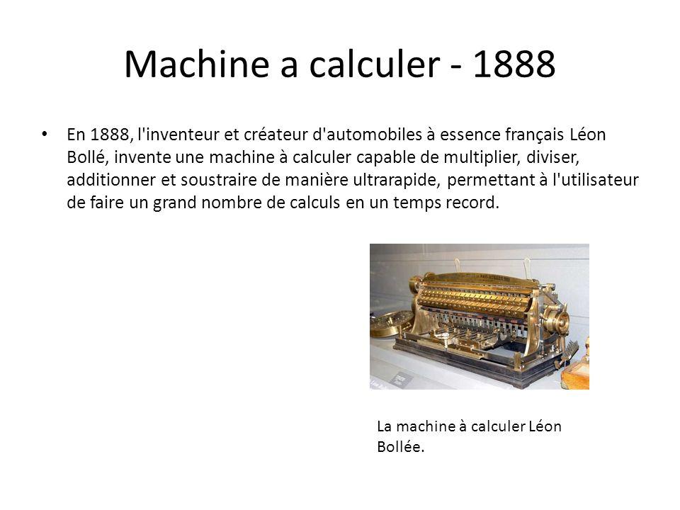 Machine a calculer - 1888