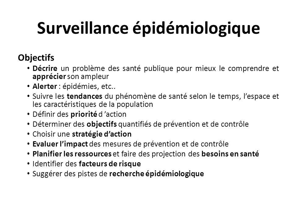 Surveillance épidémiologique
