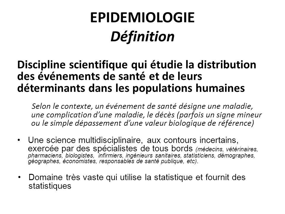 EPIDEMIOLOGIE Définition
