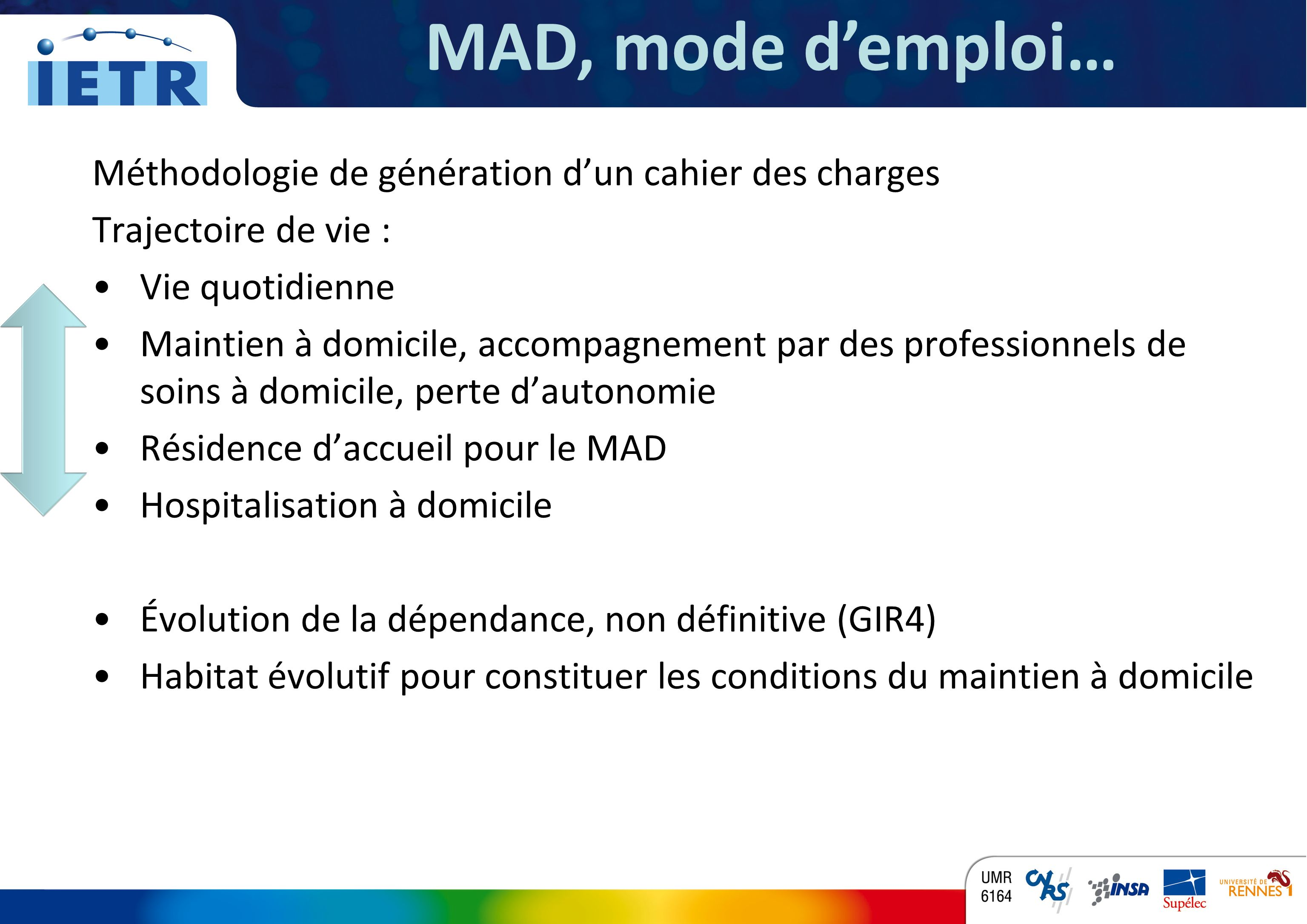MAD, mode d'emploi… Méthodologie de génération d'un cahier des charges