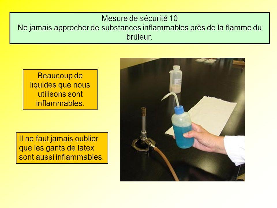 Beaucoup de liquides que nous utilisons sont inflammables.