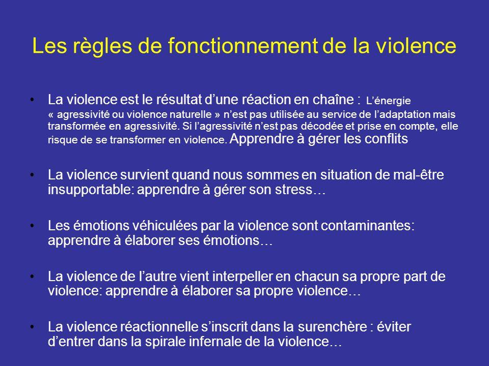 Les règles de fonctionnement de la violence