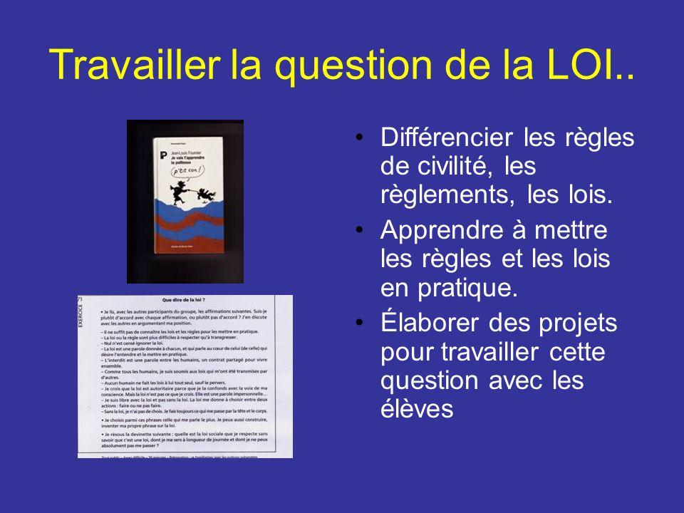 Travailler la question de la LOI..