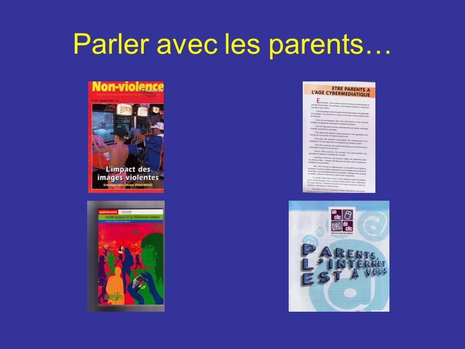 Parler avec les parents…