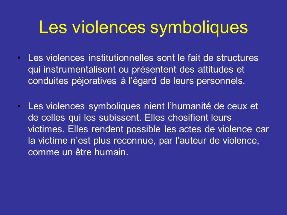 Les violences symboliques