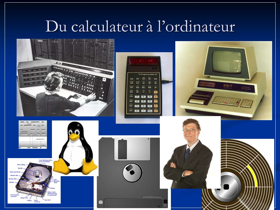 Du calculateur à l'ordinateur