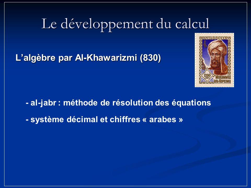 Le développement du calcul