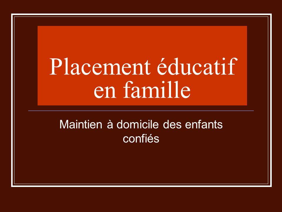 Placement éducatif en famille