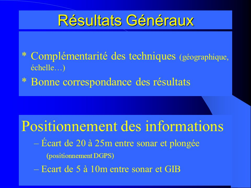 Positionnement des informations