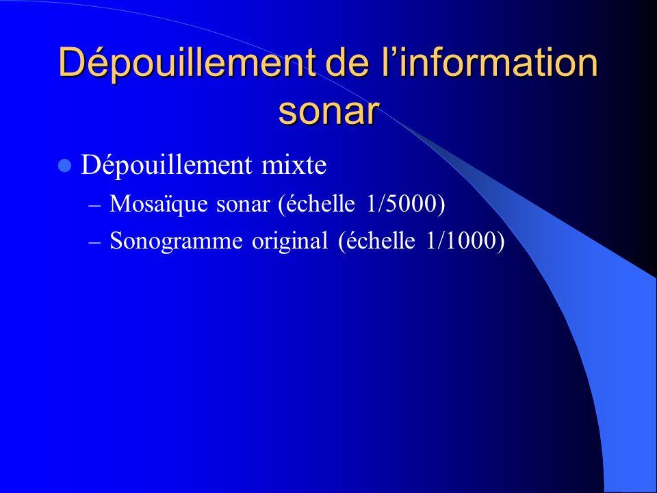 Dépouillement de l'information sonar