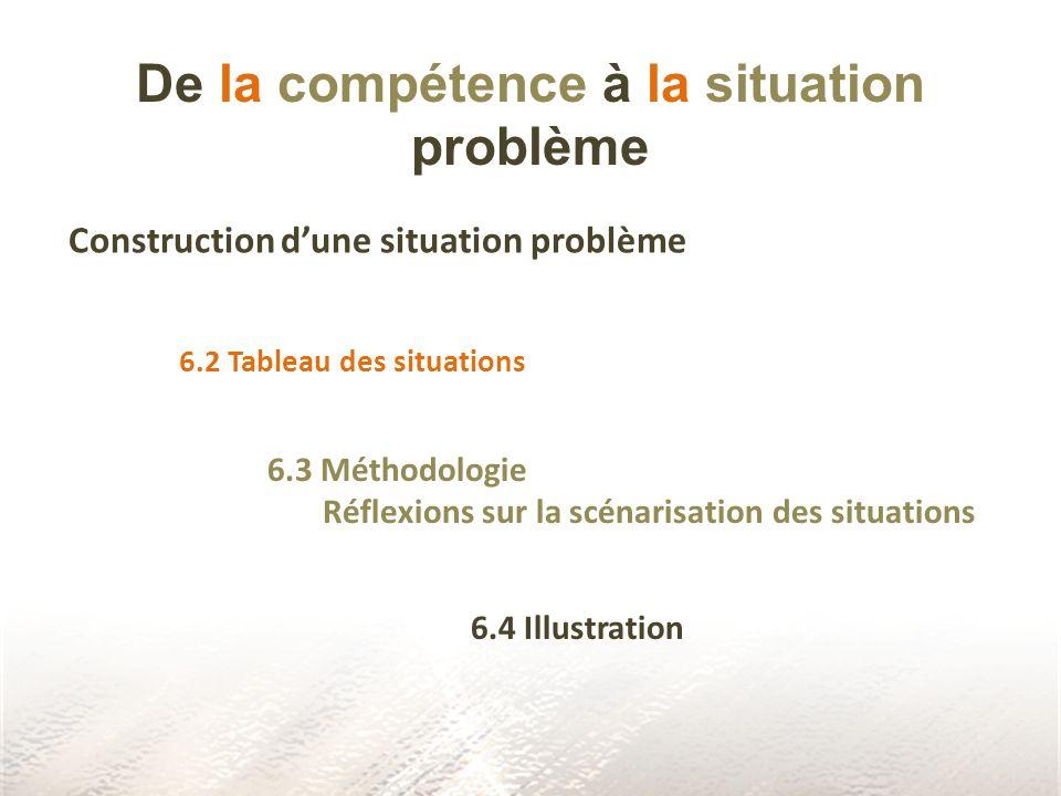 De la compétence à la situation problème
