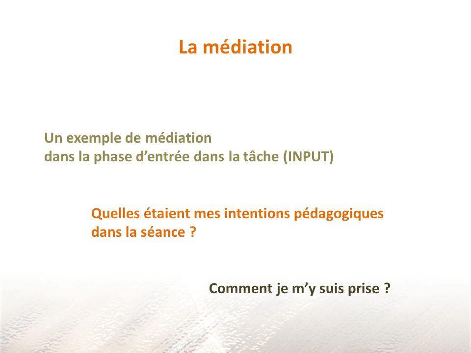 La médiation Un exemple de médiation