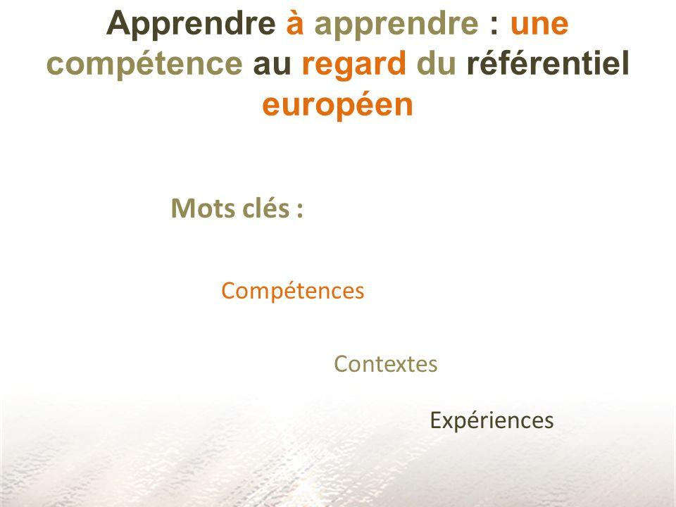 Apprendre à apprendre : une compétence au regard du référentiel européen