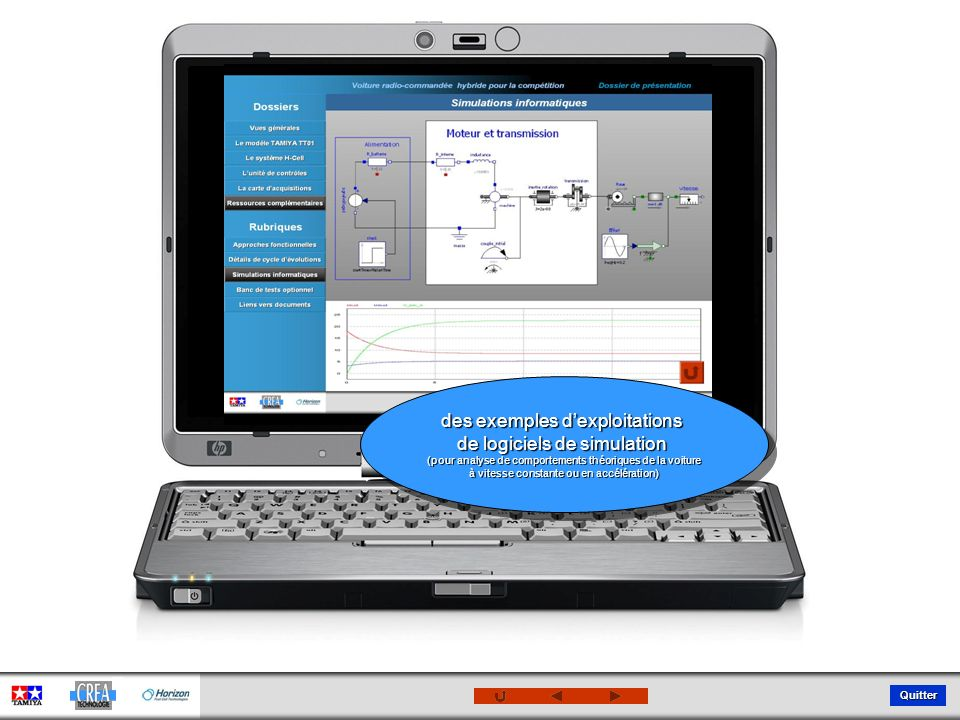 des exemples d'exploitations de logiciels de simulation