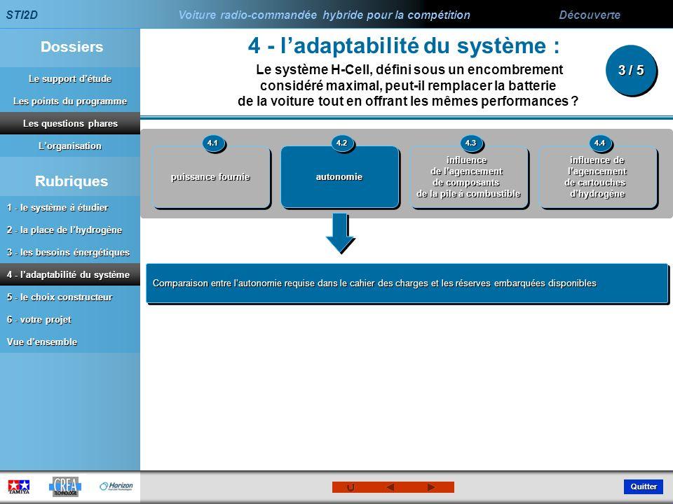 4 - l'adaptabilité du système :