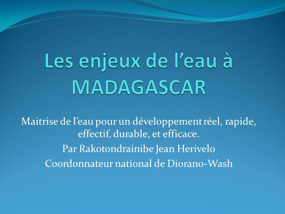 Les enjeux de l'eau à MADAGASCAR